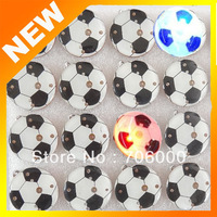 Wholesale 100 pcs/ lot World Cup Soccer Luminous Brooch LED Flash Badge Round Shape Brooch Free Shipping