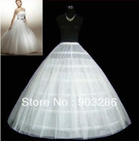 BEST SELLING Elegant GOOD price and high quality A-LINE 6 scoop petticoat white wedding dress crinoline