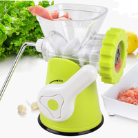 Meat grinder small manual household minced meat bao cooking machine enema machine bundle