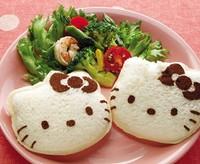5Pcs/lot Eco-friendly Cartoon Hello-Kitty Sandwich/Sushi Mold Bread Cake Mold Maker DIY Mold Cutter Craft