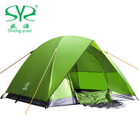 Free Shipping Via  DHL New High Quality Folding Outdoor 3-4  Person Fiberglass Waterproof   Double Layer  Large  Tent