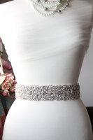 Shining Real Picture Gorgeous Wedding Sash Rhinestone Beading Crystal Real Stones Bridal Belt  Wedding Belt Dress belt