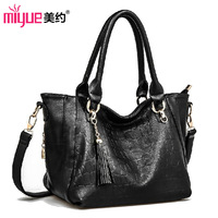 2013 women's handbag casual tassel embossed shoulder bag black handbag messenger bag  Women handbags