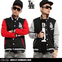 La male Women lovers hiphop cardigan hip-hop outerwear baseball shirt uniforms hiphop jacket