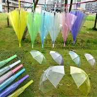 Transparent umbrella long-handled customize princess umbrella dance props printing logo umbrella