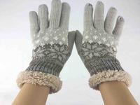 Fashion Warm Winter Fur Knit Gloves Mittens IGlove for Touch Screen Accessory, Free Shipping
