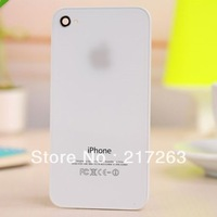 Hot Sell Replacement black white Glass Battery Cover Back Housing for Iphone 4G&4S