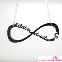 BELIEBER &DIRECTIONER   1D Pendant  Necklace