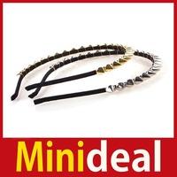 rising stars [MiniDeal] Women Lady Girl Hot Fashion Headband Bow Punk Spike Rivet Studded Hair Band #02 Hot hot promotion!