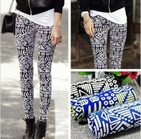 2013 Winter hotsale new arrival Korea style women novelty thicken warm print vintage ethnic leggings free shipping