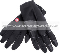 Free Shipping Black Windstopper  Warm Wind Fabrics Windproof  Waterproof Outdoor Gloves,Cycling Gloves, Support  Drop Shipping