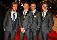 2013 New Fashion Italian Brand Tailored  Men Slim Fit  Suits Luxury  High Quality Groom Tuxedo Wedding Suits Jacket+Pants 2Pcs