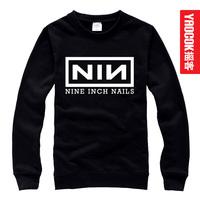 Nine inch nails novelty o-neck sweatshirt male women's