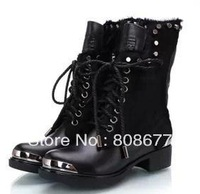 2013 Top Selling Fashion Newest  horsehair  Boots For Women Genuine Leather Winter Boots free shipping