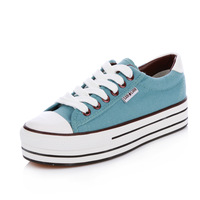 Free shipping Comfortable 2013 all-match canvas shoes female platform cotton-made canvas shoes female shoes casual shoes
