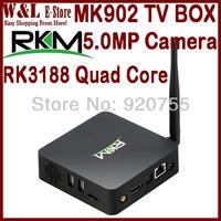 Rikomagic MK902 Andriod TV Box Quad Core RK3188 2GB RAM 8GB ROM MINI PC Built-in 5.0MP Camera Microphone Bluetooth RJ45 AV HDMI