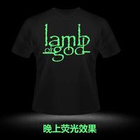 Lamb lamb of god luminous rock t-shirt short-sleeve