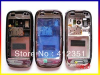 Black/Brown/White Original Complete Full Housing Cover Case + keypads for Nokia C7 Free Shipping