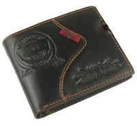 Hot sale!Free Shipping. 2013 NEW fashion Men's wallet,with genuine leather!,quality guarantee !Various style chooses TM-35