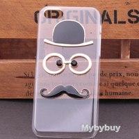 3D Sexy Chaplin Mustache Hard Case For iPhone 5C