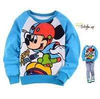 Children's clothing loop pile 100% cotton sweatshirt t-shirt