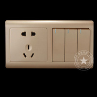 Duplex 86 switch socket ofhead control panel ofhead controller double with five hole socket