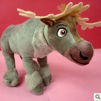 free shipping 24CM Movie Frozen Cute reindeer Sven Plush Toy Frozen Princess Stuffed Soft  Doll