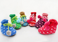 6 pairs/lot  First Walkers Crochet Baby Shoes woolen yarn Baby Socks Knitting newborn baby shoes baby's gift 6 colors