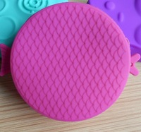 Q hot-selling candy color silicone coin purse female coin bag key wallet small fish zipper bag free shipping