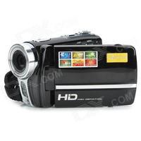 """RICH 720p HD 591 3"""" TFT 5MP CMOS Mini Digital Zooming Video Camera w/ SD / Mini USB - Black"""