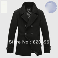 2013 High Quatity Brand Jacket for men coats casual mens thicken woolen fashion jackets coat men's jacket winter men overcoat