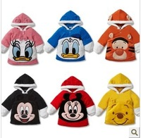 children's clothing long sleeve hoodie and jacket Boys and girls long-sleeved coral velvet hooded jacket