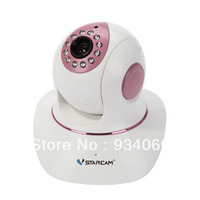 Vstarcam 720P HD Megapixel IP Camera  Pan/ Tilt P2P H.264 Plug and Play For Night Vision Built-in Micro SD Slot Free Shipping
