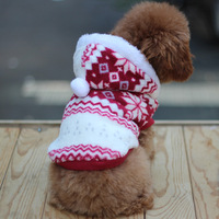 Pet Dog Snowflake Print Winter Coat Puppy Clothes Coral Fleece Hoodie Jacket New Free shipping &Drop Shipping LX0232