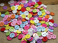 Free shipping 200 Pcs Mixed Round 2 Holes Resin Sewing Buttons 12mm Dia. Knopf Bouton(W02289)