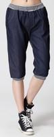 Plus size plus size pants mm summer jeans women Large high waist capris