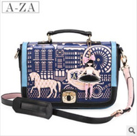 Hot sale 2013 new fashion women patchwork hollow out shouder bag messanger bag  ladies pu handle bag high quality
