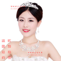 The bride accessories piece set wedding jewellery bridal accessories married necklace earrings set