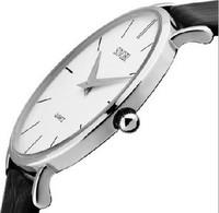 hotest sell,free shipping 2014 New Fashion Classic SINOBI Leather Strap watch Man Fashion Style Quartz Military Slim Wrist Watch