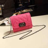 2013 chain bag plaid mini bags fashion vintage bag women's handbag messenger bag  bolsas femininas clutch