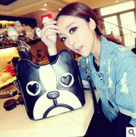 Hot sale 2013 new fashion women dog style shouder bag messanger bag ladies pu handle bag high quality