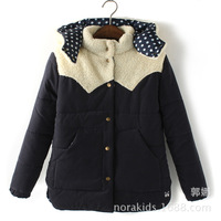 MB096 trade cotton padded winter lamb wool thick warm coat jacket Moe Cubs hat