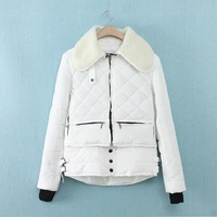 Perth Simmel 2013 new winter coat jacket wholesale European and American women's fashion thick padded cotton jacket women