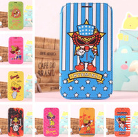 For Samsung N7100 Galaxy Note2 New Cartoon Hysteric Glamour Mini Series PU Leather Stand Case With Card Slot