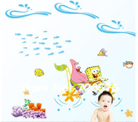 Sponge Bob and Patrick Wall Decal  Cartoon Room Wall Sticker Decals