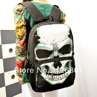 Punk Style Skull Women Backpack Students Schoolbag