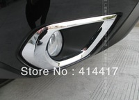 Chrome Front Fog Light Lamp Cover Trim For 13 14 Subaru Forester 2013 2014 gh