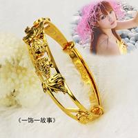 Piscean gold plated bracelet bride 18k gold hand ring double bracelet