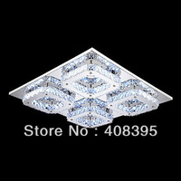 Free Shipping LED Crystal Flush Mount, 4 Light, Modern Transparent Electroplating Stainless Steel Ceiling lamp