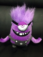 "Little yellow man doll thief dads purple doll plush toys despicable me 3 d eye capsule doll birthday gift 7"" 5pcs/lot"